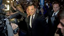 Ontary Progressive Conservative Leader Tim Hudak greets supporters at his election night headquarters in Niagara Falls on Oct. 6, 2011. (Kevin Van Paassen/Kevin Van Paassen/The Globe and Mail)