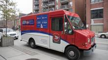 A Canada Post truck is seen on Tuesday, May 1, 2012 in Toronto. (Matthew Sherwood For The Globe and Mail)