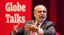 """Toronto, Ontario - November 12, 2015 -- -- Ben Bernanke, former chairman of the Federal Reserve, speaks during a """"Globe Talks"""" event in Toronto, Thursday November 12, 2015."""