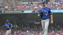 J.A. Happ will start Game 2 of the ALCS for the Toronto Blue Jays on Saturday. (Ronald Martinez/Getty Images)