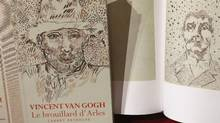This file photo taken on November 15, 2016 shows a book of drawings from Vincent Van Gogh displayed during a press conference at the architecture academy in Paris. (JACQUES DEMARTHON/AFP/Getty Images)