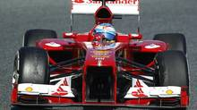 Ferrari's Formula One driver Fernando Alonso of Spain (ALBERT GEA/REUTERS)