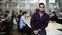 Kevin Sandhu, founder and chief executive officer of Grow Financial Inc., sits for a photograph at the company's office in Vancouver, British Columbia, Canada, on Friday, Jan. 29, 2016. (Ben Nelms/Bloomberg)