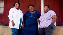 Soul, pop, ballads and blues are all gospel for the Como Mamas, Ester Mae Smith, Angela Taylor and Della Daniels. (Blake Haney)