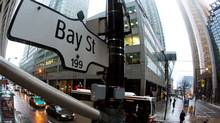 A Bay Street sign, the main street in the financial district is seen in Toronto, Jan. 28, 2013. (© Mark Blinch / Reuters)