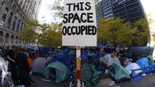 The Occupy Wall Street encampment at Zuccotti Park in lower Manhattan November 10, 2011. (MIKE SEGAR)