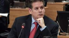 A frame grab shows political organizer Martin Dumont testifying at the Charbonneau inquiry looking into corruption in the Quebec construction industry Monday, January 21, 2013 in Montreal. (Ryan Remiorz/THE CANADIAN PRESS)