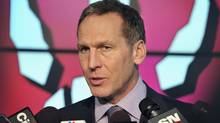 Toronto Raptors president and general manager Bryan Colangelo speaks to the media during the NBA team's annual media day in Toronto December 12, 2011. (Reuters)
