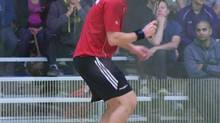 Squash player Adrian Dudzicki of Ottawa has died after being hit by a car while cycling in Toronto. (The Canadian Press)