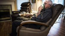 Glen Godden at his home in Langley on Jan. 19, 2016. Mr. Godden, now in his 80s, was exposed to asbestosis as a young man, when he used to open 50-pound bags of asbestos, mix it with water and trowel it on boilers as insulation. (John Lehmann/The Globe and Mail)