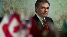 Alberta Tory leadership candidate Jim  Prentice told an audience in Calgary that he will provide more support to local advisory health councils and make other changes to allow them to better serve the unique needs of their regions. (Peter Power/The Globe and Mail)