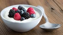 If you eat probiotic yogurt to ease irritable bowel symptoms such as bloating and gas – or to ward off colds and flu – you might want to rethink your reason for doing so. (ozgurcoskun/Getty Images/iStockphoto)