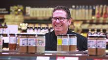 David Marcus sells his barbecue sauce and rubs during demonstrations at grocery stores. 'If there was only more of me to go around, I could be doing much more business,' he says. (Rosa Park For The Globe and Mail)