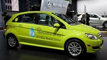 A Mercedes fuel cell vehicle. Daimler has a plan for hydrogen fuelling stations in Germany. (Andrew Harrer/Bloomberg)
