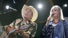 Ian Tyson and Sylvia Tyson perform at the Mariposa Folk Festival in Orillia on July 11, 2010. (JENNIFER ROBERTS/Jennifer Roberts for The Globe and Mail)
