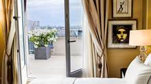 Renovations upgraded the look from period decor to nouveau art deco. (Prince de Galles, a Luxury Collection Hotel)