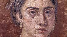 Portrait of a Woman Mosaic, part of the Royal Ontario Museums's exhibit Pompeii: In the Shadow of the Volcano.
