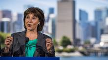 B.C. Premier Christy Clark speaks during a news conference in Vancouver on June 29, 2016. (John Lehmann/The Globe and Mail)