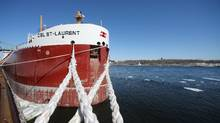 A boat docked at the Port of Montreal, April 1, 2015. (Christinne Muschi For The Globe and Mail)