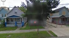 UNGOOGLEABLE: The house of Ariel Castro, the man who last week was handed a life sentence plus 1,000 years for his part in the imprisonment and sexual assault of three women, is seen blurred out on Google Maps. The Cleveland property was demolished on Wednesday by an excavator in less than 90 minutes as spectators applauded on the sidewalk.