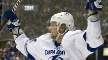 Tampa Bay Lightning's Steven Stamkos scored his 60th goal of the season in Saturday's 4-3 overtime win over Winnipeg. FILE PHOTO: REUTERS/Fred Thornhill (FRED THORNHILL)