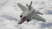 An F-35 Joint Strike Fighter arrives at Edwards Air Force Base in California in this May 2010 file photograph. (Tom Reynolds/Tom Reynolds/Lockheed Martin)