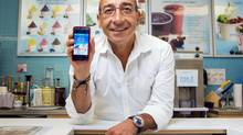 Aaron Serruya of Yogen Fruz believes the cost of implementing the new mobile phone app loyalty program will quickly be recovered. (Jennifer Roberts For The Globe and Mail)