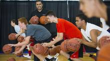 Pasha Bains, owner of Drive Basketball, during one of his basketball classes in Richmond, B.C., June 19, 2014. (John Lehmann/The Globe and Mail)