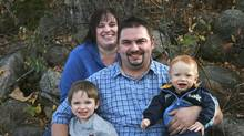 Shannon Wheaton, a pastor from Fort McMurray, Alta., centre, his wife Trena Thompson-Wheaton, and youngest son Benjamin, died in a head-on crash north of Edmonton Friday. Oldest son Timothy survived. (Submitted photo)