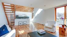 """Home of the Week, 2 Miles Place, Toronto. Asking price: $829,000. Selling price: $829,000. When owner Jeff Mr. Pangman, an actor and TV producer, discovered it on a walk with his dog in 2006, the building was a pink, vinyl-siding garage with a few misplaced windows. """"A shack,"""" Mr. Pangman says. """"Just a shack in a laneway."""" (Brad Quan/QStudios.ca)"""