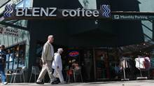 A Blenz Coffee shop in the 2900 block of West Broadway in Vancouver. (DARRYL DYCK for The Globe and Mail/Darryl Dyck For The Globe and Mail)
