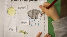 A student in the French Immersion program at Laura Secord Elementary in Vancouver on April 3, 2014. (John Lehmann/The Globe and Mail)