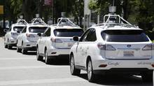 Driverless cars, like the ones pioneered by Google, have the potential to wipe out the taxi and trucking industries. (Eric Risberg/The Associated Press)
