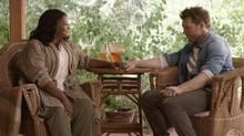 Papa (Octavia Spencer) and Mack Phillips (Sam Worthington) in The Shack (Courtesy of Lionsgate)