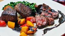 Lucy Waverman's seared chili-rubbed sirloin with southwestern chili sauce, works best by doing the searing and making the sauce ahead of time, so that all you have to do. (Peter Olson/The Globe and Mail)