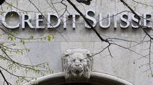 The April 3, 2012 file photo shows the the logo of Credit Suisse bank in Zurich. (Alessandro Della Bella/AP/Alessandro Della Bella/AP)