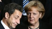 France's Nicolas Sarkozy and Germany's Angela Merkel (Francois Lenoir)