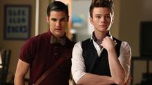 Darren Criss, left, and Chris Colfer are seen in a scene from Glee. The show continues to be a solid performer for Global. (Adam Rose/Fox)