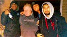 From left: Anthony Smith, former Toronto mayor Rob Ford, Assem Monir and Mohammed Khattak are seen in a picture that was originally published in the Toronto Star alongside revelations that Mr. Ford had been filmed while smoking crack cocaine. (Courtesy of Mohamed Farah)
