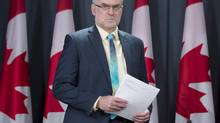 Auditor General of Canada Michael Ferguson arrives for a press conference in Ottawa on Tuesday May 6, 2014. (Adrian Wyld/THE CANADIAN PRESS)