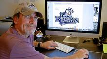 Brent Lynch is the painter and graphic artist who designed the breaching orca for the Vancouver Canucks. His latest effort is a design for the new Victoria Royals hockey team. (Submitted photo/Submitted photo)