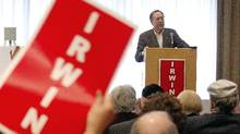 Liberal MP Irwin Cotler speaks to supporters during the launch of his election campaign in his Mont Royal riding of Montreal, April 10, 2011. (Christinne Muschi for The Globe and Mail/Christinne Muschi for The Globe and Mail)