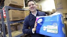 Sean Neville is the owner of Healthwick Canada, an online retailer that provides home delivery of adult diapers in discreet, unlabelled boxes. (J.P. MOCZULSKI For The Globe and Mail)