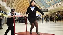 Paula Padua from WestJet is a Toronto-based customer service agent. (Ryan Szulc)