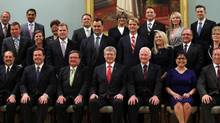 Part of the new federal cabinet on July 15, 2013 at Rideau Hall in Ottawa. Dave Chan for The Globe and Mail. (DAVE CHAN)
