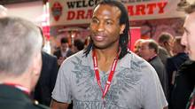 Georges Laraque at Scotiabank's Pro-Am for Alzheimerâs Draft Night. (Ryan Emberley/The Globe and Mail)
