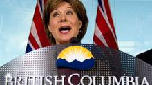 British Columbia Premier Christy Clark answers questions about the HST referendum results. (DARRYL DYCK/THE CANADIAN PRESS)