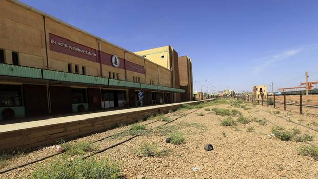 A policeman guards Khartoum North Passengers Station Feb. 14, 2013. Sudan was once home to Africa's largest railway network, with more than 5,000 kilometres of track running from the Egyptian border to Darfur in the west, Port Sudan on the Red Sea coast and Wau in what is now South Sudan. (MOHAMED NURELDIN ABDALLAH/REUTERS)