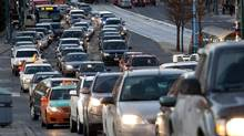 Rush hour traffic on Spadina Avenue in Toronto on Nov. 29, 2013. (Deborah Baic/The Globe and Mail)