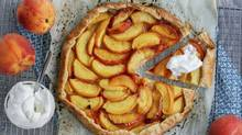 Peach Galette. (Stephanie Eddy for The Globe and Mail)